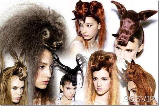Penteados exoticos e diferentes