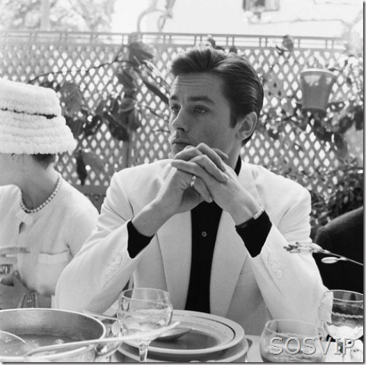 Alain Delon at the Cannes Film Festival, 1961