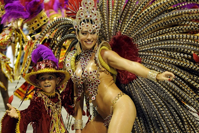 На бразильском карнавале