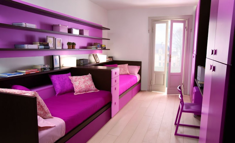 Girly Purple Children Bedrooms Set Design from Dearkids