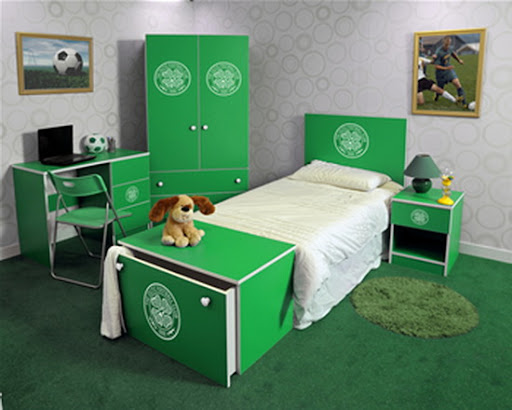 Celtic FC Bedroom Interior Design Picture