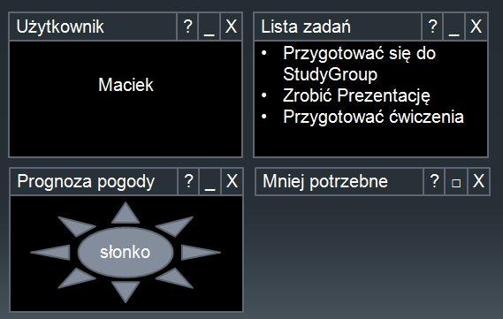 WebParts  Koncepcja