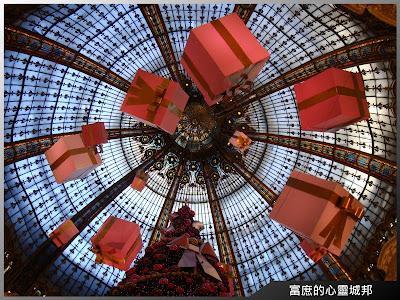 法國巴黎拉法葉百貨瑰麗的天頂