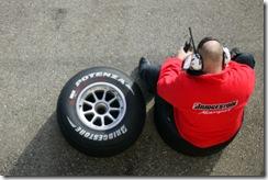 2009 GP2 Series Testing.  Paul Ricard, France. Thursday 12th March 2009. A Bridgestone tyre engineer.  World Copyright: Alastair Staley / GP2 Series Media Service. ref: Digital Image _MG_4970