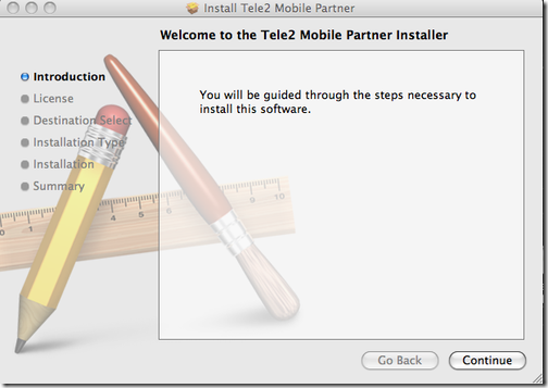 Tele2 Mobile Partner installation