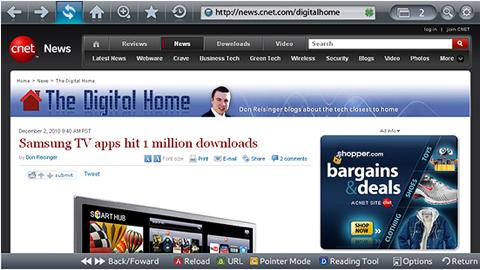 Smart TV veebilehitseja