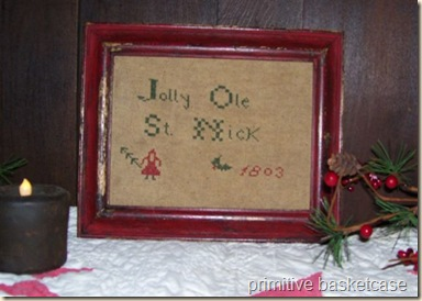 framed jolly ole st. nick