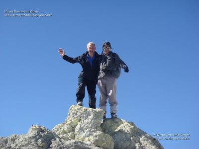 Gerald Stern on the Summit of Mt Damavand Iran
