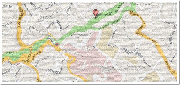Kart funnet på hotellrommet til Slei P. Somenål