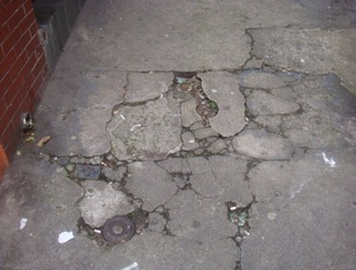 Reformar 600 quilômetros de calçadas é uma das metas da Agenda 2012. Foto de David Feder