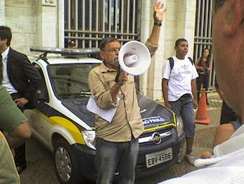 Juarez Gomes, líder do Movimento de Ambulantes de São Paulo. Foto: Gladstone Barreto
