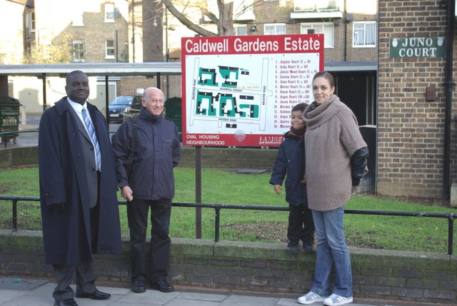 Vassall Action Team at the Caldwell Gardens Estate, Lambeth SW9