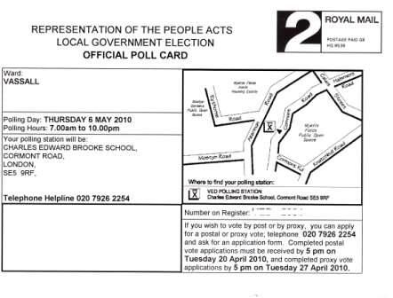 polling card