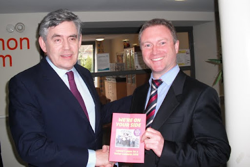 Prime Minister Gordon Brown with Steve Reed in Stockwell, Lambeth
