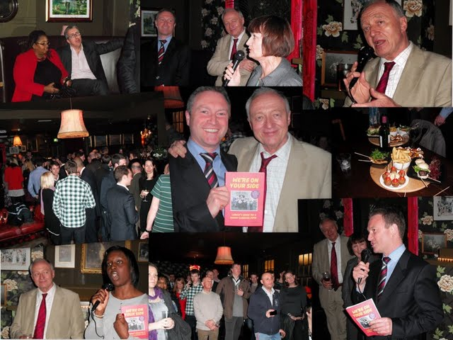 Collage of images from the Lambeth Labour manifesto launch