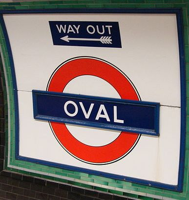 Oval tube sign