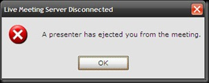 Live Meeting Server Disconnected 10022009 110245
