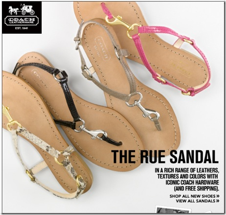 coach summer rue sandals 2011
