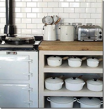 kitchen white le creuset