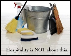 hospitality is not about this