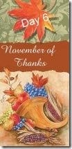 November of Thanks6 at 'Rebecca Writes'