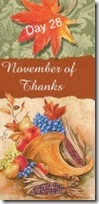 November of Thanks 28 at 'Rebecca Writes'