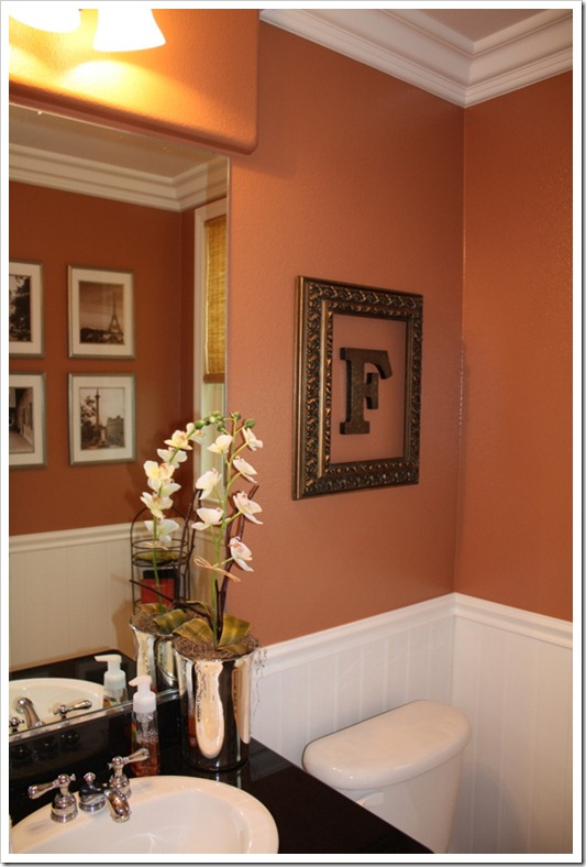 Powder room paint colors elegance dream home design for Powder room color ideas