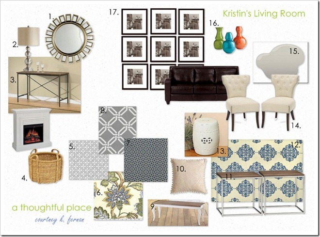 Living room inspiration board a thoughtful place for Room design mood board