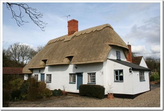 thatch house side