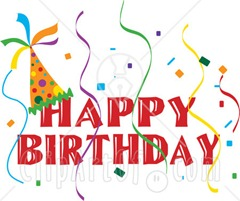 17086-Happy-Birthday-Banner-With-A-Party-Hat-And-Colorful-Confetti-And-Streamers-Clipart-Illustration