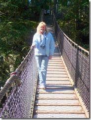 Lisa on swinging bridge