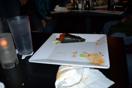 Rob's Spicy Tuna Roll Challenge at Bushido