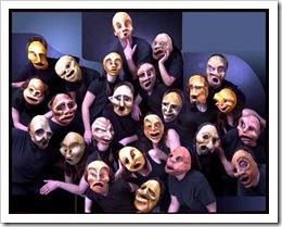 mascaras coro teatro grego