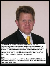 Dr Hennie Barnard says Kempton Park is under siege from armed criminal gangs