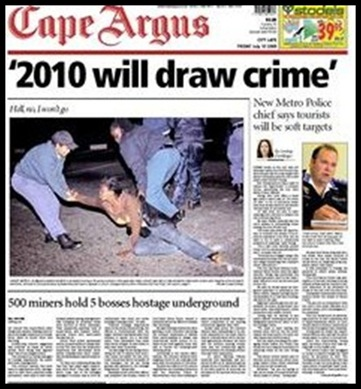 WC2010 will draw crime warns Cape Town police chief
