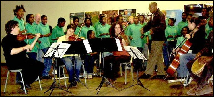 Filadelphia school at Soshanguve entertained by Aviv Quartet of Israel