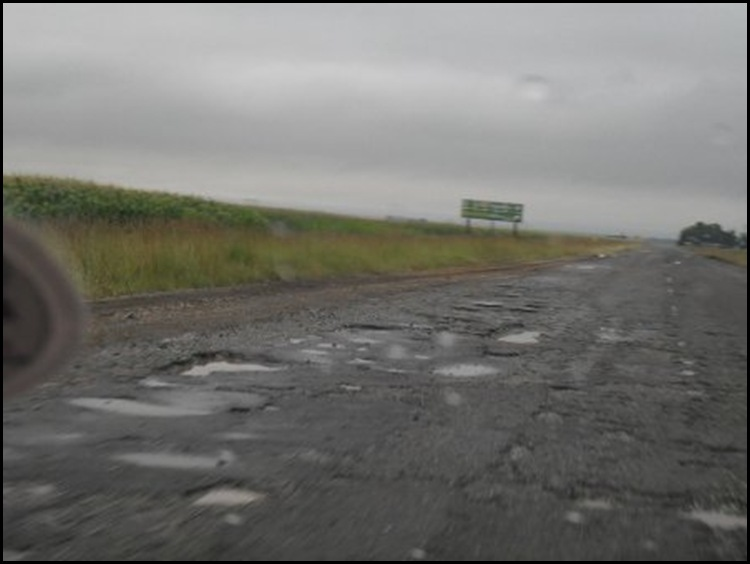 R50 highway in Mpumalanga Feb 21 2010 is one huge potholed wasteland reports DA