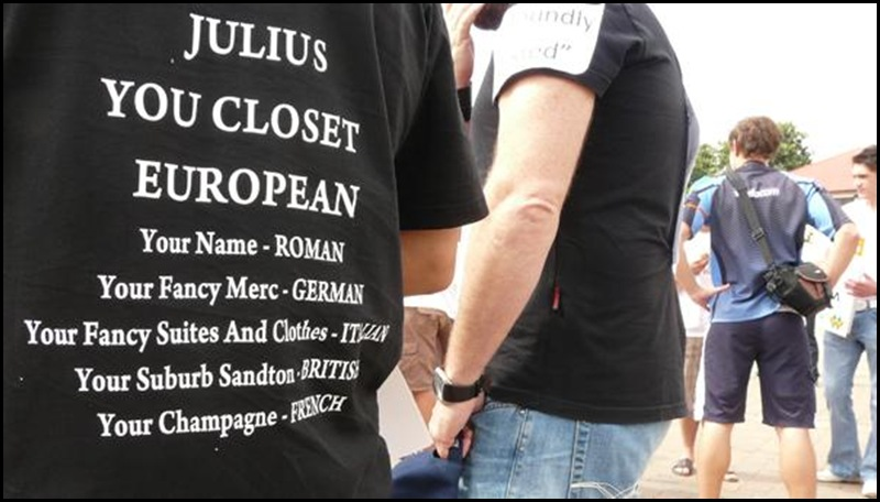 Julius Malema Closet European Tshirt AfriForumYouthProtestors March192010