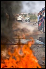 Bronkhorstspruit 8000 rioters Mpumalanga Bronkhorstspruit JacoMaraisBeeldMarc232010