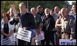 TerreBlanche Eugene Odendaalsrust court protest against March62009 murders Lotter women