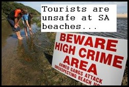 Tourists unsafe at SA beaches
