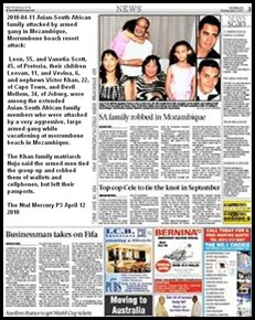 Mozambique SA vacationers attacked by armed gangs Mercury Apr122010 P3 (2)