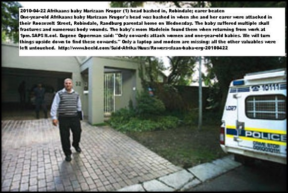 Robindale Randburg baby attacked by armed robbers Roosevelt Str April212010 HouseAttacked