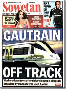 GautrainOffTrackOverRacismIssue