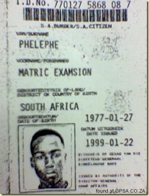 FakeSAPassport_IssuedToMrMatricExamsionPhelephe