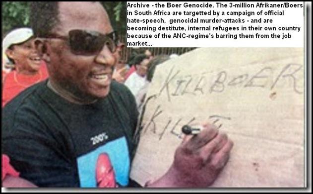 KillBoerKillFarmer_ANCSloganMeansKillAllWhites University Free State SASCO supporter