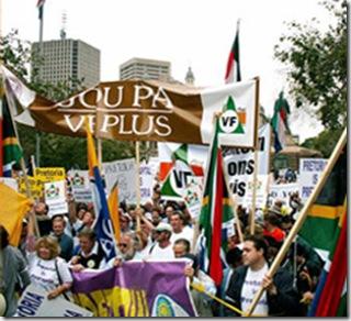AfrikaansProtestorsFreedomFrontPlusYouthNov2008