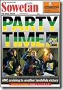Sowetan Front Page April 23 Party Time sowetan co za