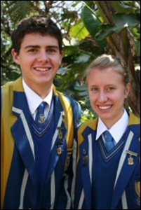 Rooyen van Illana headgirl Waterkloof Afrikaans High with headboy Jaco Hauman
