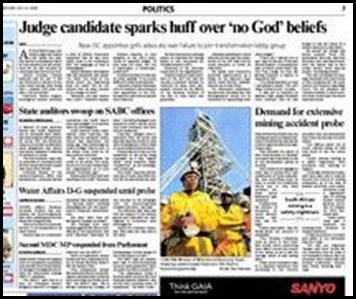 Paterton Grahamstown advocate and atheist applies for bench